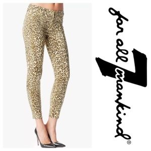 NWT 7 FOR ALL MANKIND Cropped Skinny Cheetah Print